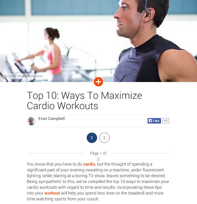 ways to maximize cardio workouts